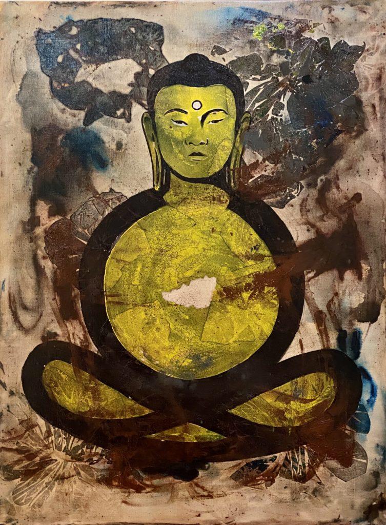 """Buddha 04 """"Yellow"""""""